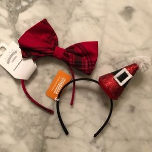 Set of 2 Gymboree girls holiday headbands.